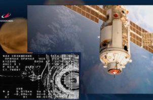 El módulo científico multiuso de Rusia Naúka se acopló hoy a la Estación Espacial Internacional (EEI). Foto: EFE