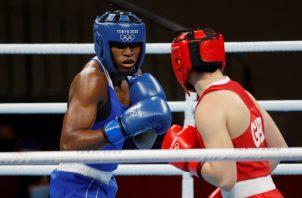 Atheyna Bylon llegó hasta cuartos de final de los Juegos de Tokio. Foto: EFE