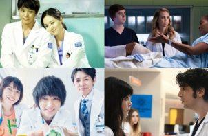 """The Good Doctor"", ""Doctor Milagro"", ""Guddo Dokuta"", son adaptaciones inspiradas en la serie surcoreana ""Gut dakteo"". Fotos: Sony Channel Latinoamérica / @mucizedoktorfox / Rakuten Viki / Wiki Drama"