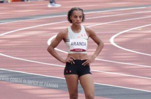 Nathalee Aranda terminó en el puesto 14 de su serie clasificatoria disputada en el estadio Olímpico de Tokio. Foto: Cortesía COP
