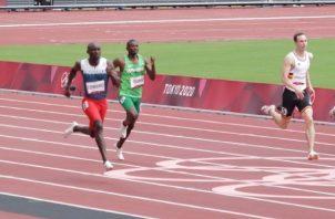 Alonso Edward. en su carreras en los 200 metros planos Foto:Cop