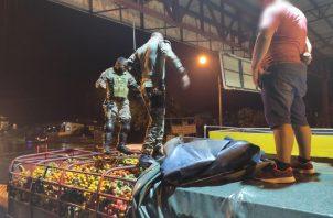 El vehículo con el cargamento de pixbae tenía placa panameña. Foto: Mayra Madrid