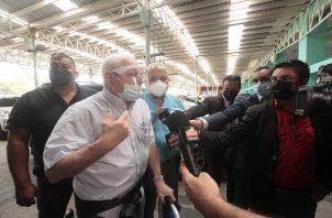 Ricardo Martinelli pidió a Cortizo atender los problemas del país. Foto: Víctor Arosemena