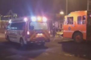Los heridos fueron auxiliados y trasladados hacia un centro hospitalario. Foto: Diómedes Sánchez
