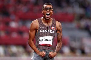 El canadiense Andre de Grasse heredó del astro jamaicano el título con un tiempo de 19.62. Foto Cortesía: @Olympics