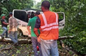 Varias personas que se encontraban en el lugar del accidente trataron de socorrerlo, pero Karín Navarro Dean ya había fallecido. Foto. Diomedes Sánchez