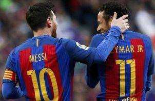 Leo Messi y Neymar Jr. le dieron mucha alegría al Barcelona. Foto: EFE