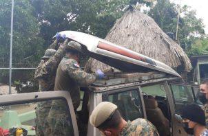 La presunta sustancia ilícita fue puesta a órdenes de las autoridades competentes.  Foto: Cortesía Senafront