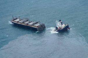 La Autoridad Marítima de Panamá, está en comunicación y en franca colaboración con las autoridades japonesas con las cuales se pretende realizar una investigación en conjunto. Foto: EFE