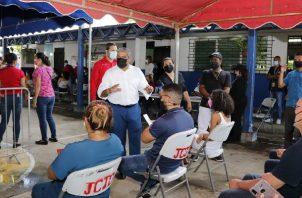 Panamá mantiene estrategia de vacunación por barrido con las dosis de Pfizer. Foto: Cortesía Minsa