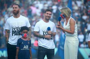 Leo Messi fue el más ovacionado de los fichajes del PSG. Foto: EFE
