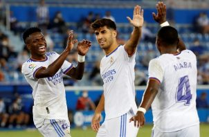 Vinicius Jr. marcó el cuarto tanto del Real Madrid. Foto: EFE