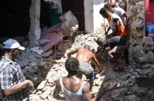 El terremoto en Haití destruyó muchos hospitales, escuelas, iglesias, hoteles y empresas privadas. Foto: EFE