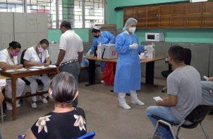 El Minsa aplicó 150,383 dosis de la farmacéutica Pfizer durante los cinco días de vacunación contra la covid-129 en el circuito 8-10 y Juan Díaz. Foto: Cortesía Minsa