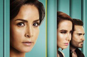 Catalina Santana, 'La Diabla' y Albeiro, personajes de 'Sin senos sí hay paraíso'. Foto: Cortesía