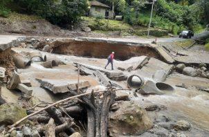 Esta vía permitía la comunicación con los poblados de La Laguna, Lajas, y Río de Jesús. Foto: Eric A. Montenegro