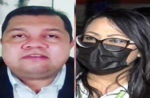 Leonardo Labrador y Ana Lorena Chang, ambos son altos funcionarios jerárquicos del Minsa. Foto: Twitter