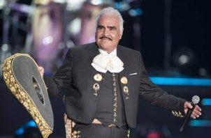 El cantante Vicente Fernández durante un concierto en el Auditorio Nacional de la capital mexicana. Foto: EFE / Archivo