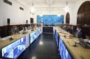 El Consejo de Gabinete se reúne una vez por semana y luego de concluido se divulga una nota de prensa sobre lo aprobado. Cortesía