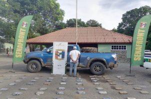 Un ciudadano panameño fue detenido con la sustancia ilícita. Foto: Cortesía Senafront