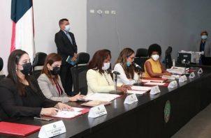 La Comisión de la Mujer, la Niñez, la Juventud y la Familia de la Asamblea Nacional presentó un informe. Foto: Asamblea Nacional