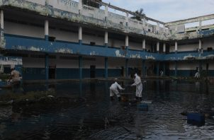 La escuela República de Venezuela lleva cinco años en el abandono. Foto: Víctor Arosemena