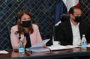 La ministra de Educación participó en la aprobación en primer debate del proyecto de ley que dicta medidas sobre equidad digital. Foto: Archivo