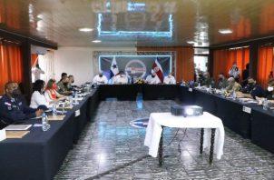 Reunión entre Panamá y Costa Rica sobre tema fronterizo y migratorio. Foto. Mayra Madrid