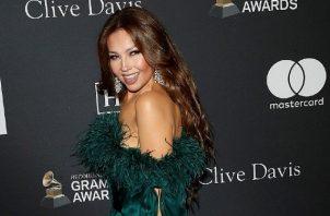 Thalía celebra la obtención de la estrella de la fama 2.676 en Los Ángeles en 2019. Foto: EFE
