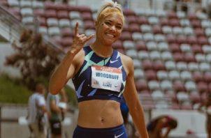Gianna Woodruff clasificó a la final de los 400 metros con vallas en Tokio. Foto: Cortesía Gianna Woodruff