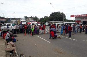 Días atrás los miembros de la Comarca Ngäbe Buglé cerraron la calles por espacio de 30 horas. Foto: Mayra Madrid