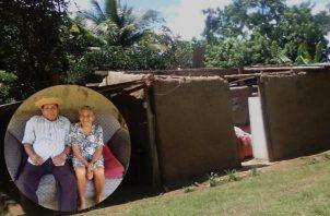 Abuelitos en La Pintada piden ayuda gubernamental para mejorar sus vivienda. Foto: Cortesía