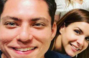 Remy Carrera y Judy Meana, mientras eran pareja sentimental. Foto: Redes Sociales