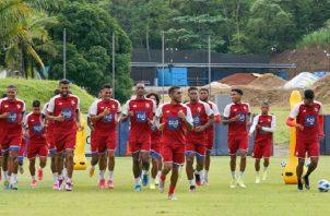 Los panameños trabajan a doble sesión desde el pasado lunes. Foto Cortesía: @fepafut