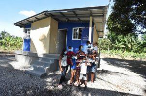 Un total de 80 residencias fueron construidas en el distrito de Barú, Chiriquí. Foto: Cortesía Miviot