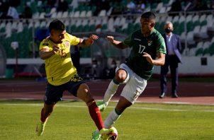 Colombia empató de visita 1-1 con Bolivia. Foto: EFE