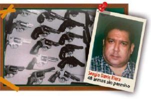 En el allanamiento se decomisaron 48 armas sin permiso. Foto: Archivo