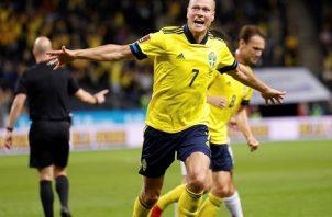 Suecia vino de atrás para derrotar a España 2-1. Foto: EFE