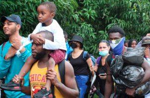 Estos migrantes ya están en el sur de México. Desde septiembre, Panamá solo permite el ingreso de 500 migrantes diarios de Colombia. EFE