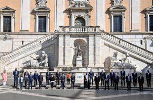 Participantes de la Reunión de Ministros de Salud del G20 en Roma, Italia. Foto: EFE