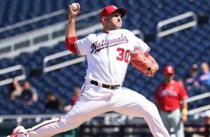 Paolo Espino, el lanzador panameño más regular en MLB, se fue sin decisión ante los Filis, la semana pasada. Foto: Cortesía