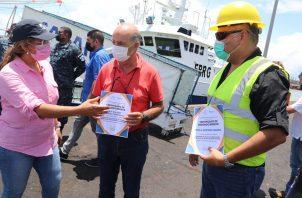 """Se hizo una práctica en el barco de pesca """"Salaiño"""", de bandera española. Foto: Cortesía Arap"""
