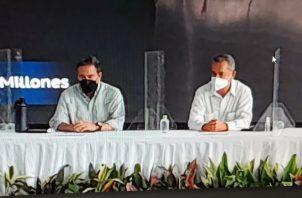 El presidente Laurentino Cortizo destacó la confianza de la empresa en los pequeños ganaderos. Foto: José Vásquez