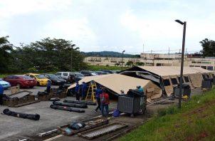Este es el segundo hospital campaña que se instala en la provincia de Panamá Oeste. Foto: Eric Montenegro