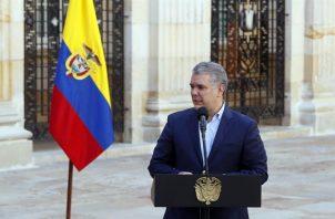 El presidente de Colombia, Iván Duque, en una fotografía de archivo. Foto: EFE