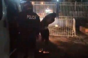 El hecho ocurrió en el sector de La Milagrosa, distrito de La Chorrera. Foto/Captura Policía Nacional