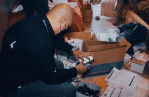 Insumos, medicamentos y documentos se encontraron en los allanamientos. Foto: MP