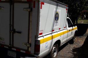 El cadáver fue trasladado a la morgue judicial en el distrito de David. Foto: Mayra Madrid