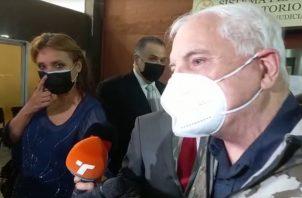 El expresidente Ricardo Martinelli dio declaraciones a su salida del Sistema Penal Acusatorio de Plaza Ágora.
