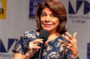 Expresidenta costarricense Laura Chinchilla. Foto: EFE